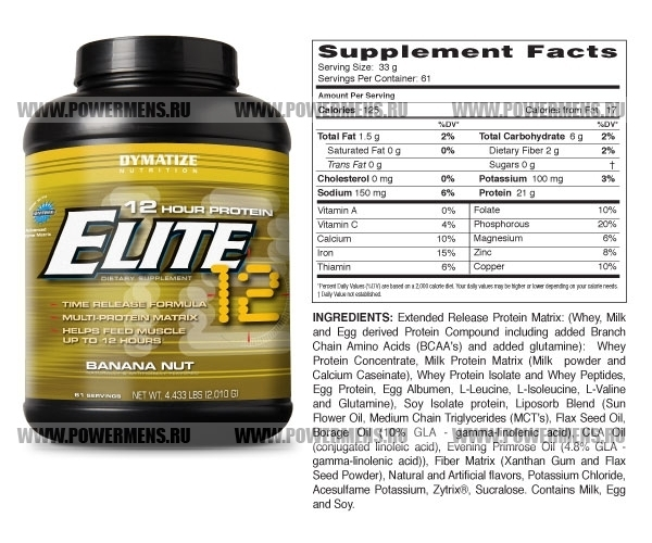 Купить Dymatize Nutrition, Elite 12 Hour Protein (2010гр)