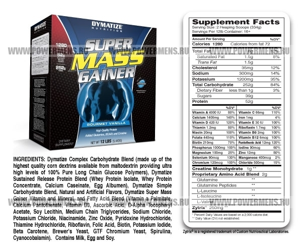 Купить Dymatize Nutrition, Super MASS Gainer (5443гр)