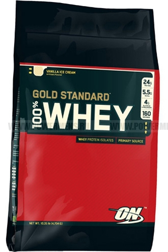 Купить Optimum Nutrition, 100% Whey Protein Gold Standard (4540гр)