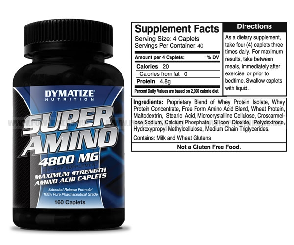Заказать Dymatize Nutrition, Super Amino 4800 (160 таб). распродажа