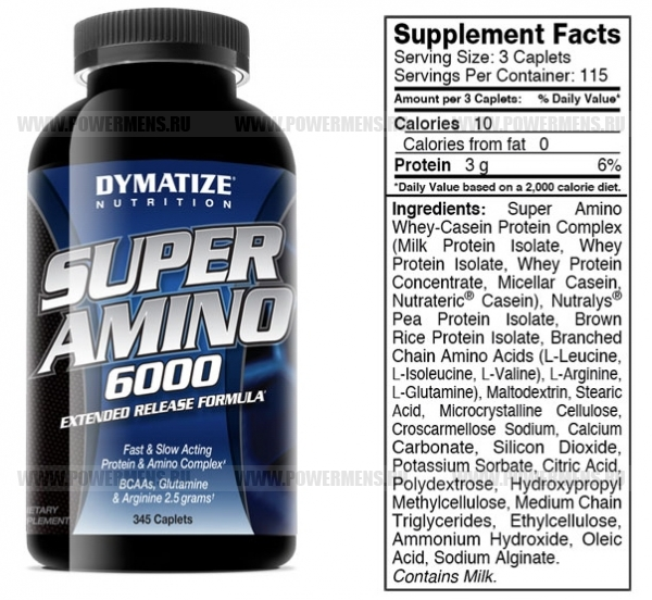 Отзывы Dymatize Nutrition, Super Amino 6000 (345 таб)