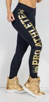 Labellamafia Legging Pro Athlete Black and Gold, Леггинсы женские арт.FCL11079